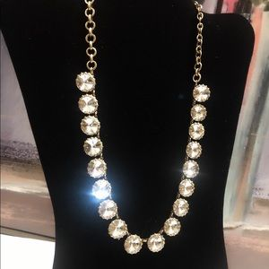 J CREW brass plated crystal necklace